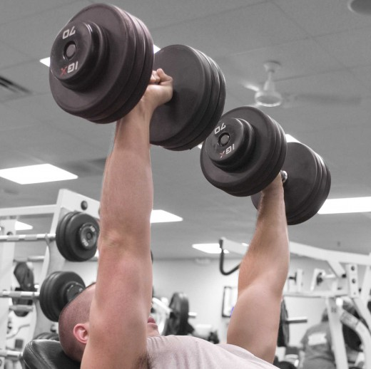 The bench press is one of the best exercises for triceps, chest and back.