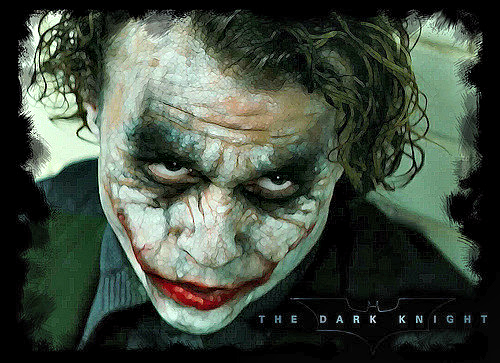 "Heath Ledger's Joker from ""The Dark Knight"""