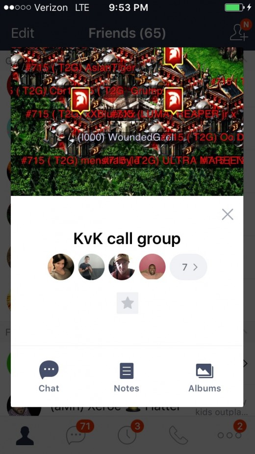 Group call line chatroom. Invite your alliance to join the chatroom, simply click the top right phone icon in the chatroom to begin the call. You can be both in-game and on this call using the same device.