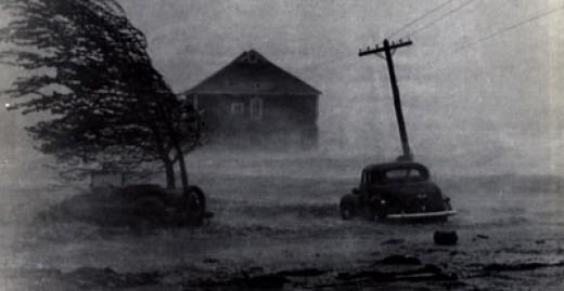 1938 Long Island Hurricane Battering shoreline