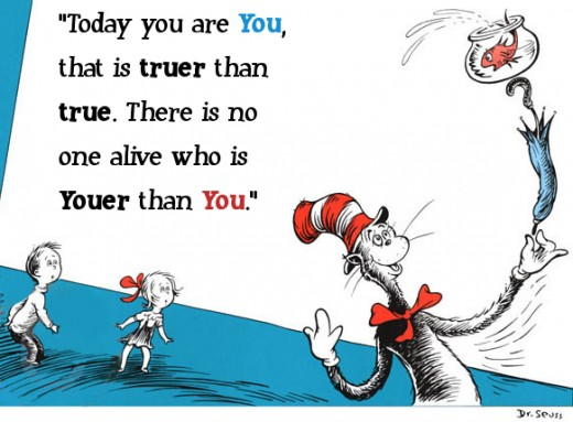 I really don't mean to compare Dr. Suess's Cat in the Hat to Jesus Christ... Okay, maybe I do. ;)