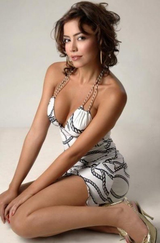 Lebanese model and TV host Hoda Fadel.