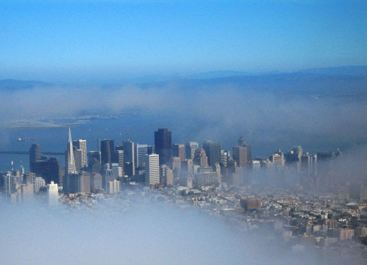 San Francisco through the fog