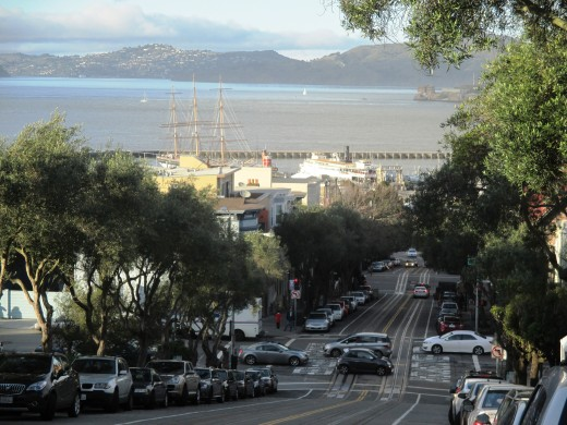 Fisherman's Wharf from the Hyde Street Cable Car