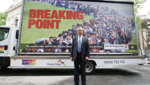 Inflammatory UKIP propaganda in advance of the Brexit vote