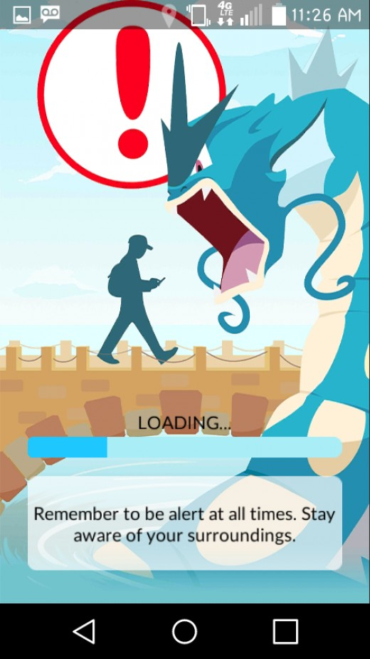 Pokemon Go loading screen.