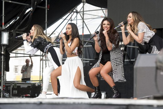 Little Mix at the Gibraltar Music Festival in 2015