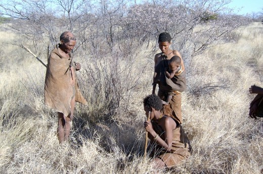 !Kung San people in the Kalahari