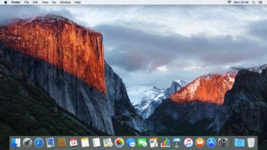 Mac OS El Capitan Dock