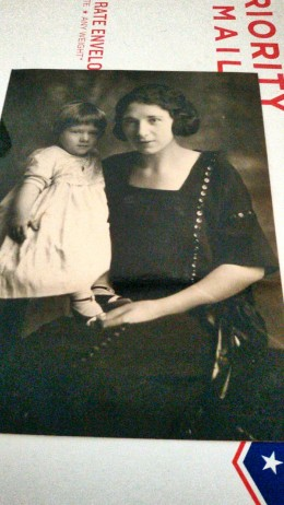 Picture taken in 1921  Mom was about one year old.