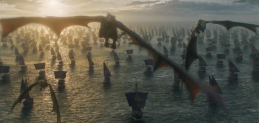 Daenerys fleet sailing towards the Seven Kingdom in Game of Thrones Season 6