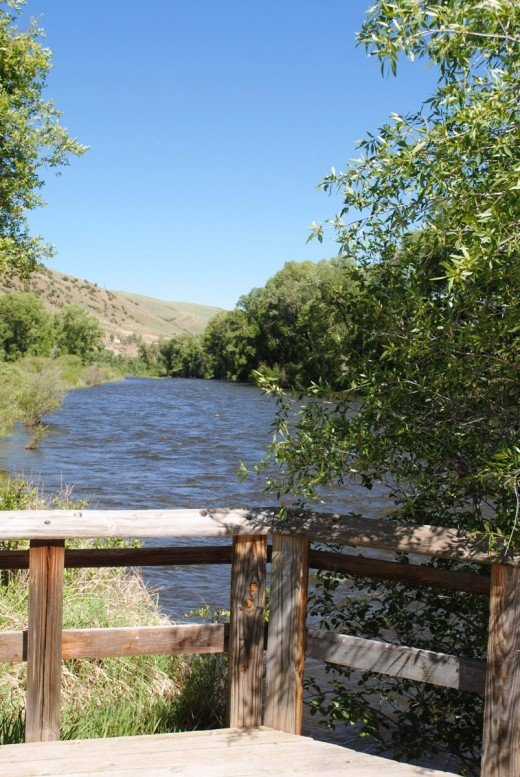 The Colorado River is just a short walk from the Breeze Pond.