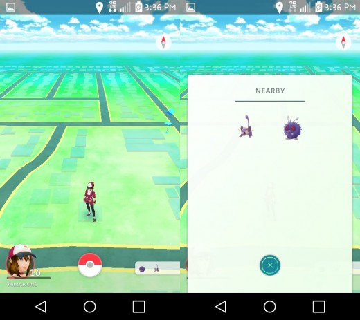 Nearby Pokemon no longer have footsteps to indicate where they are.
