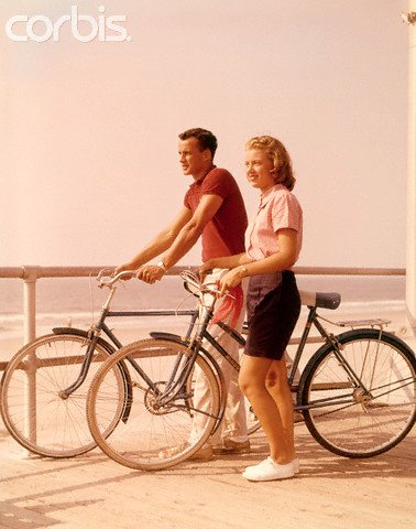 Bicycling has always been a great way for couples to interact