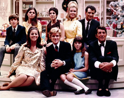 Dean Martin with his family. Ricci Martin is sitting in the second row, leftmost corner.