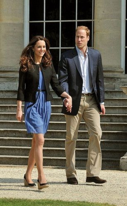Princess Kate and Prince William out for a stroll