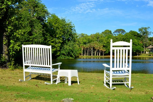 The island has many places where a visitor can simply relax. © Scott Bateman