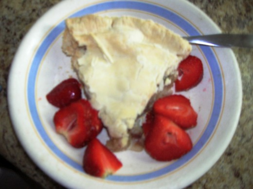 slice with strawberries- Bob Ewing photo