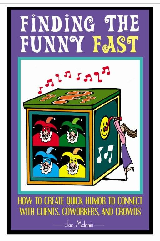 Comedy writing fast with Jan's Comedy writing book! It's a great reference.