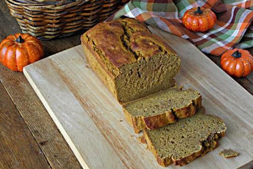 Pumpkin Bread On the Kitchen Bench