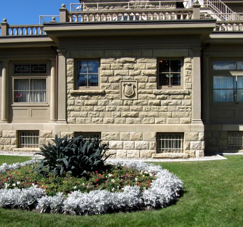 The south wall of Lougheed House, Calgary.