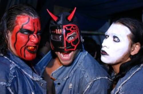Chessman, Cibernetico and Rockstar (as Charly Manson)