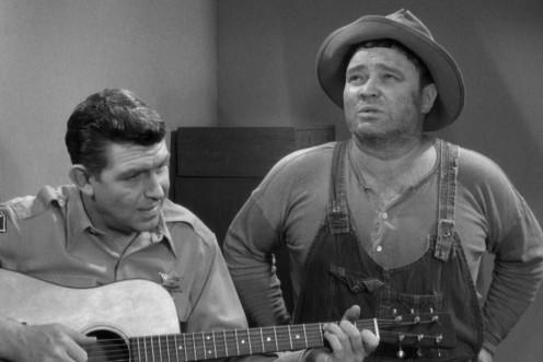 """Andy Taylor,"" accompanies ""Rafe Hollister,"" played by Jack Prince in a song he later sings for the Ladies' Musicale and once again, ""Andy"" railroads ""Barney"" out of singing for an audience, something he loved."