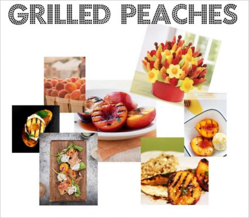 Look at these mouth watering grilled peaches!