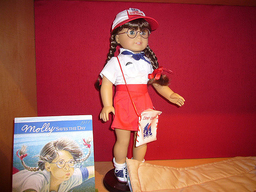 Molly is one of the classic American Girl dolls. Her story is set during World War II.