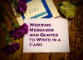 Wedding Messages and Quotes to Write in a Card