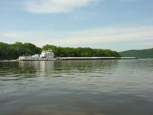 Mississippi River barge.