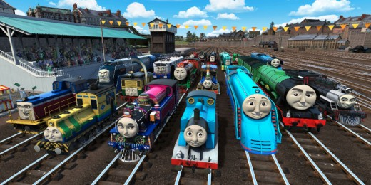 A still from Thomas and Friends: The Great Race
