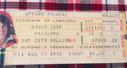 The Uptown Theatre Ticket Stub - August 27, 1976