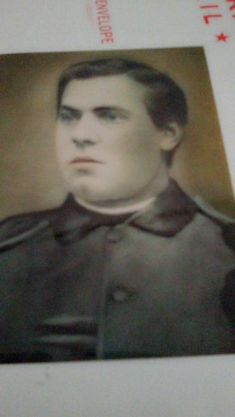 Picture of Anton Riedlsperger taken in Austria about 1870.  He is wearing an army uniform.