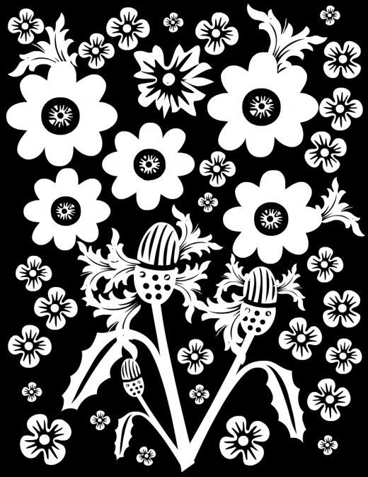 Free flower coloring page #3