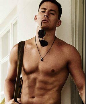 Since my original photo was flagged for nudity and had a cute joke about the shirtless man being my husband, please enjoy this highly circulated, non-nude picture of Channing Tatum.