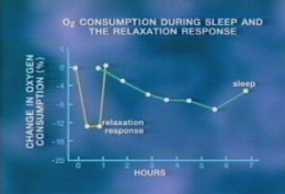 This graph shows that meditation can make you more relaxed than when you are sleeping.