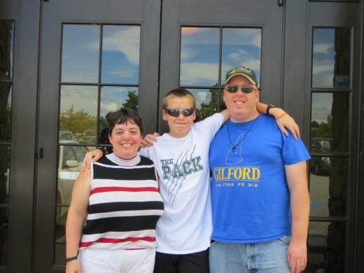 My wife, Tina, son Davey, and myself.