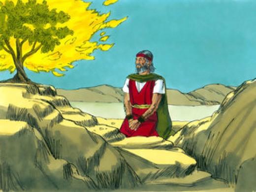 Moses and God talk