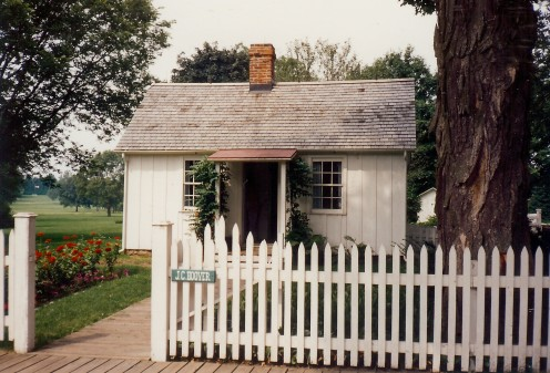 The small cottage where Herbert Hoover was born.