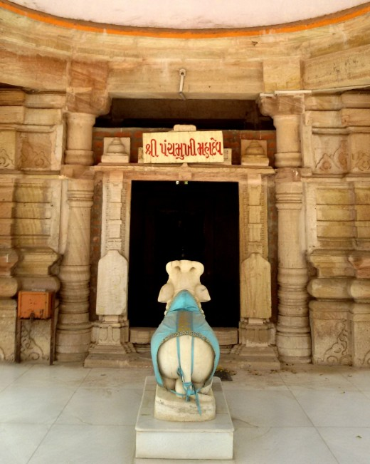 Nandi the Bull in the Temple of Panchamukhi Mahadeva