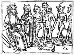 King Solomon, before the Djinn by Jacobus de Teramo, 1473