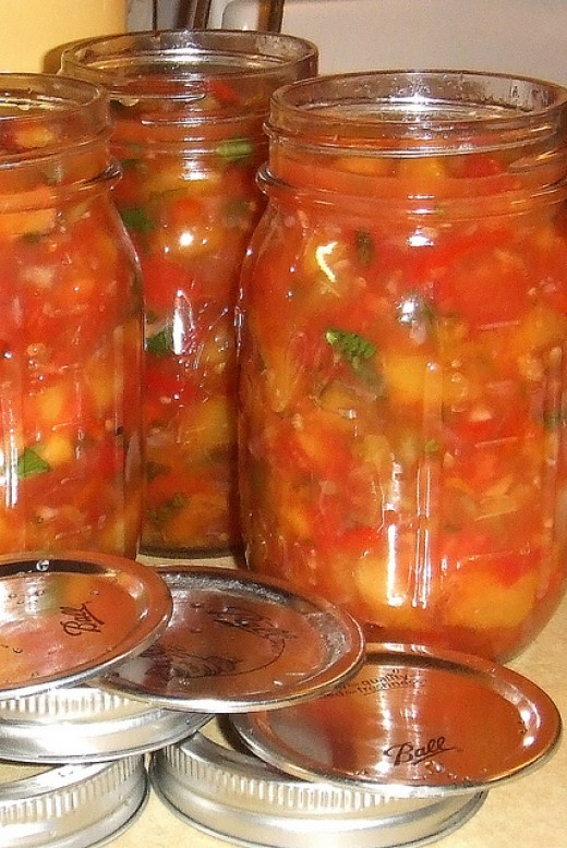 Homemade Chow Chow Relish, Peach Salsa, and Jalapeño Jelly