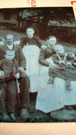 My grandma at age of 13 standing in the middle.  Picture taken in Austria