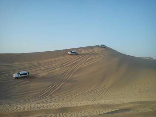 Morning Desert Safari Abu Dhabi - Dune Bashing