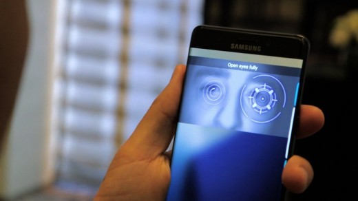 First time in a Samsung Galaxy Note, an iris scanner which is not found in an iPhone 7.
