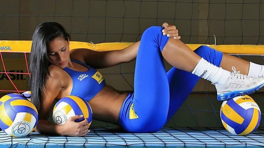 Brazilian volleyball player Jaqueline Carvalho