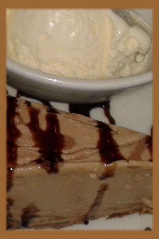 This is a heavier baked type of cheesecake.