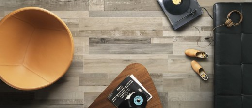Dyed Wood Effect Tiles in Modern Apartment