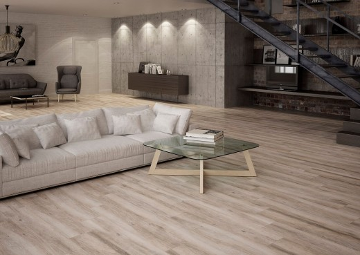 Atelier Wood Effect Tiles in Modern Living Room